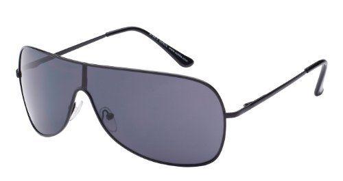Piloten Sonnenbrille Pilotenbrille Fliegerbrille Pornobrille, schwarz / schwarz Art. 8149-3, mit Federscharnieren!