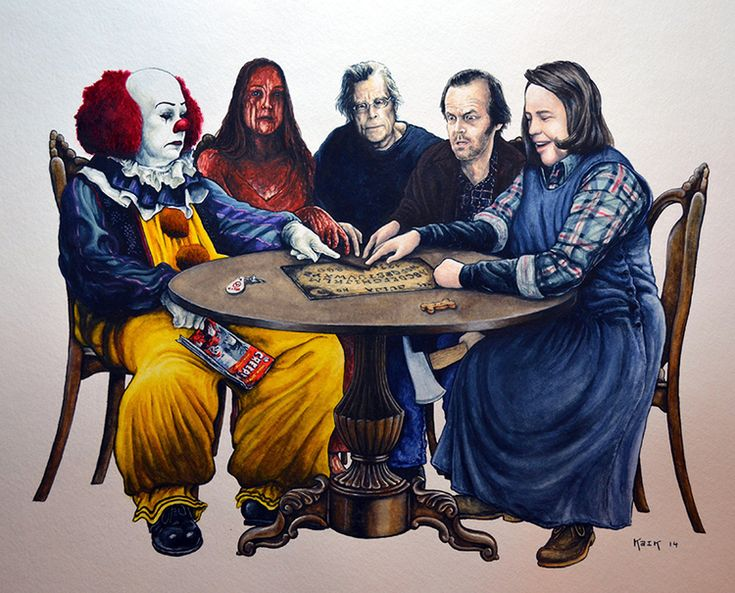 Pennywise,creepshow comic book, carrie, stephen king, jack torence, and annie wilkes