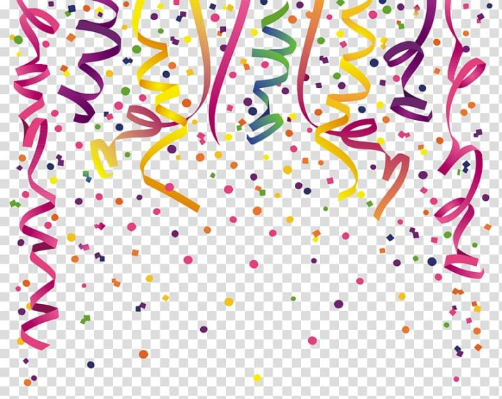 Party Ribbon Artwork Party Birthday Feestversiering Confetti Creative Transparent Background Png Clipart Text Balloon Free Clip Art Clip Art