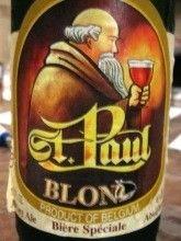 Cerveja St. Paul Blond, estilo Belgian Blond Ale, produzida por Brouwerij Sterkens, Bélgica. 5.3% ABV de álcool.