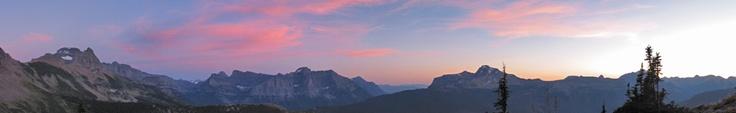 Glacier National Park Camping Info: Sunset at Granite Park Chalet