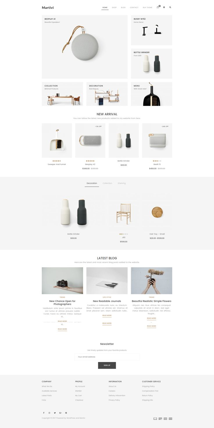 Martivi is a nice #WooCommerce #WordPress #Theme. You can easily and quickly create your #ecommerce #website with Martivi. Easily customizable with WordPress Live Theme Customizer. Finally, every single element of in Martivi is entirely responsive, as content can be viewed from desktop and mobile devices.