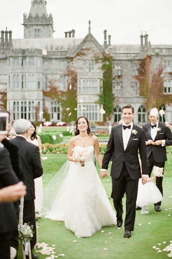 Irish castle wedding venue: http://www.stylemepretty.com/destination-weddings/2015/11/27/black-tie-destination-wedding-at-irelands-adare-manor/ | Photography: Brosnan - http://www.brosnanphotographic.com/