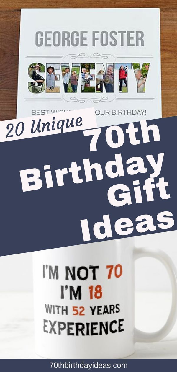 70th Birthday Gifts - Looking for unique birthday gift ideas for someone turning 70? Check out these top 20 70th birthday gifts - perfect for Mom, Dad, ...