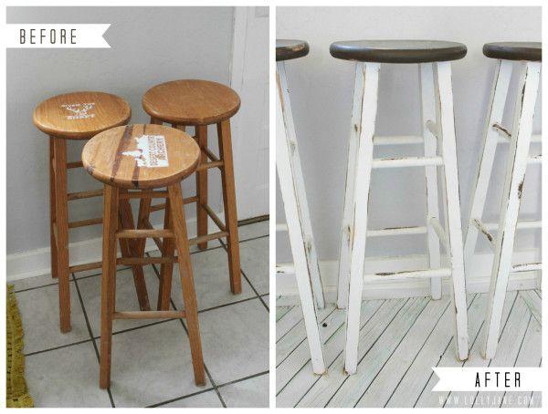 Furniture makeover: kitchen barstools