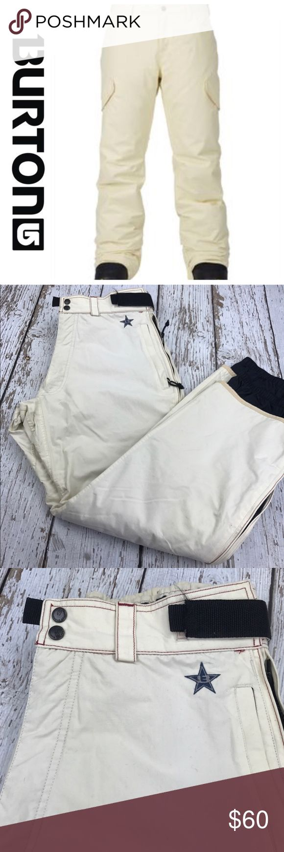 "💕SALE💕 Burton Ivory Snowboard Pants Fabulous 💕SALE💕 Burton Ivory Snowboard Pants 30"" Inseam 17"" across the Waist laying flat Burton Pants"