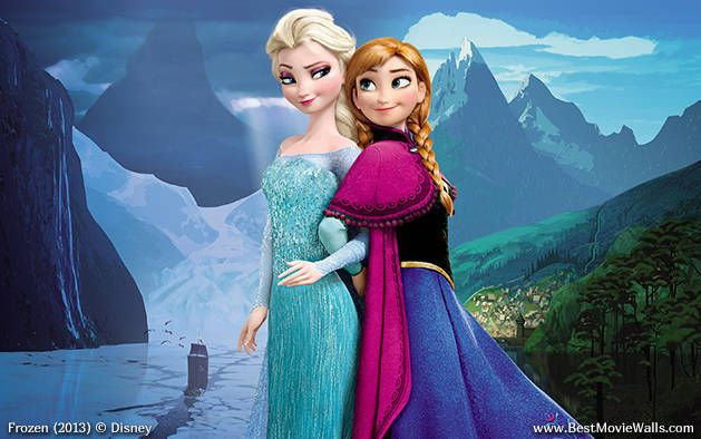 Frozen sisters. High resolution Elsa and Anna
