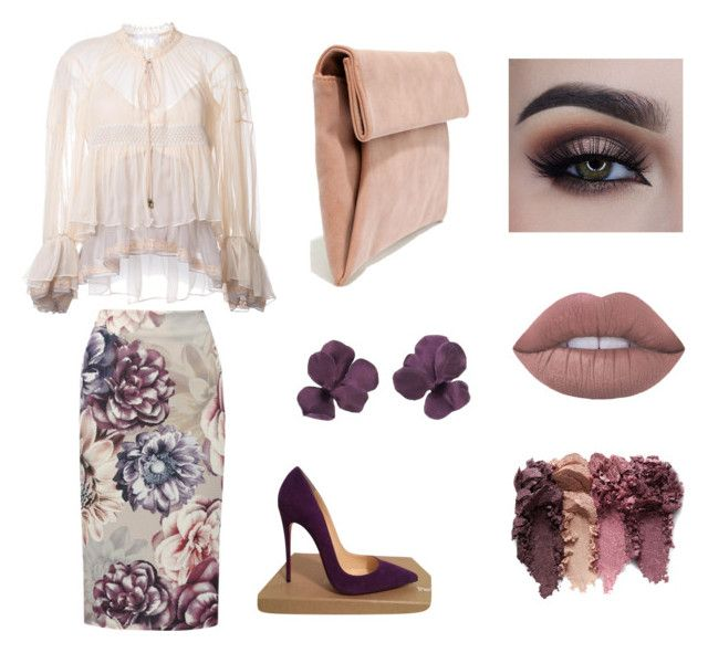 """""""Tea Party"""" by gutierrezbloom ❤ liked on Polyvore featuring Chloé, M&Co, Christian Louboutin and LULUS"""
