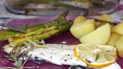 Recept Forel met groene asperges #NLFit
