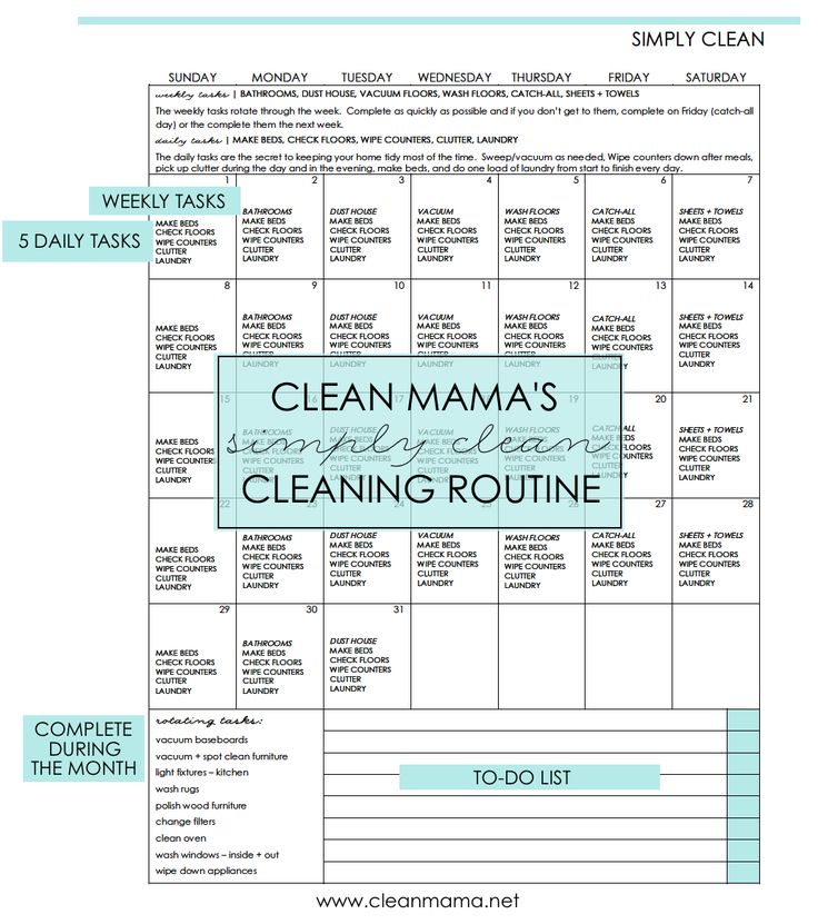 Is one of your 2017 goals to keep a tidier, more organized home? This FREE calendar and routine is the perfect place to start!