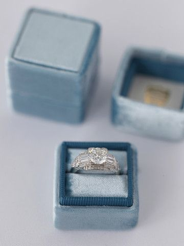 The Windemere. Velvet ring box. If you are going to propose make sure to get one of these ring boxes! They are gorgeous!