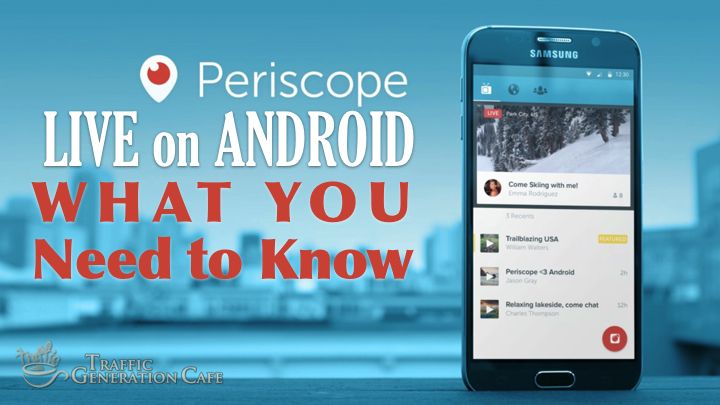Yes, Periscope is finally live on Android. Similar to iOS, but different in many ways. In this SlideShare presentation, you'll discover how to use Periscope on Android. http://www.slideshare.net/MeetAna/how-to-use-periscope-on-android  For a full Periscope tutorial, be sure to visit http://www.trafficgenerationcafe.com/periscope-tutorial/