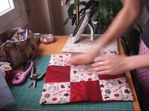 ▶ nairamkitty crafts: Tutorial funda de cojin en patchwork (cortar y coser) - YouTube