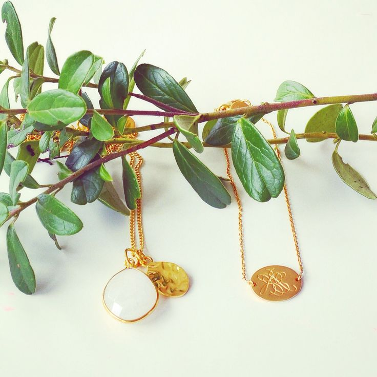 Winter Greens ♡ Lovely necklace with a small faceted stone and thin chain. Set in sterling silver with 18K gold plating.
