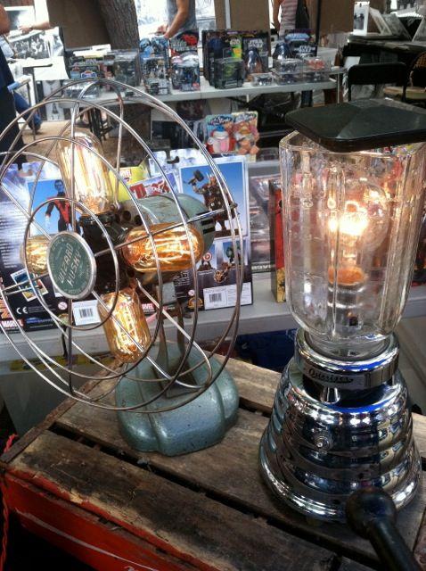 Light Repurposed from vintage fan