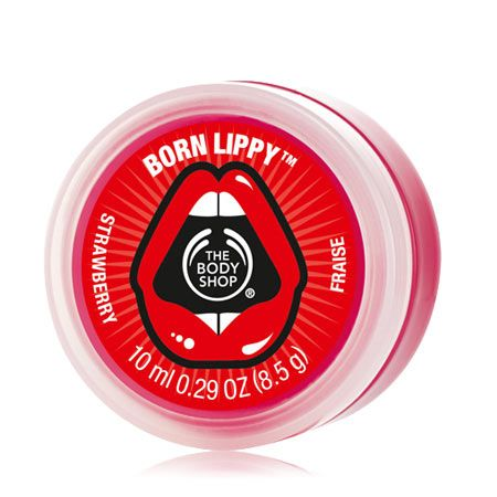 Born Lippy™ Pot Lip Balm - Strawberry #TheBodyShop #Seserahan