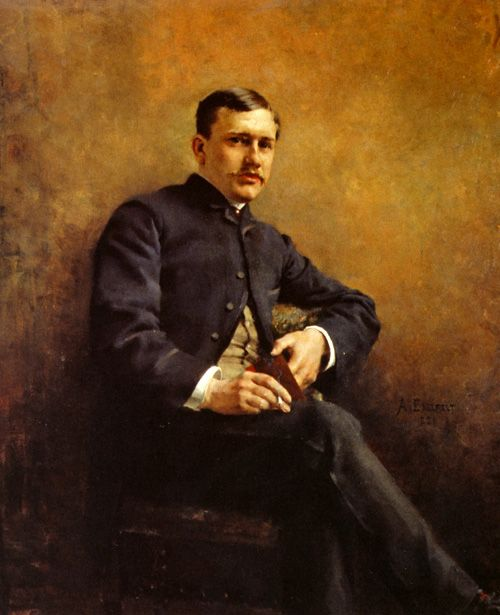 """Portrait of Jean Baptiste Pasteur"" by Albert Edelfelt (Finnish 1854 – 1905)"