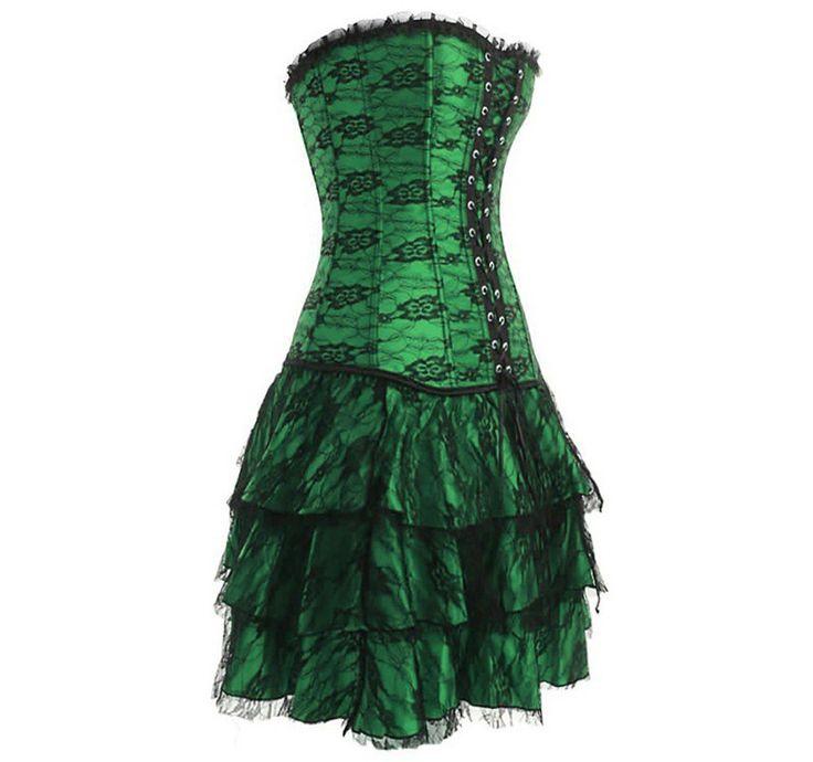 Elégant et tout en style, ce corset a un sublime design gothique, une dentelle qui mettra en valeur votre buste et une jupe séparée avec un superbe dégradé. Ce corset est idéal pour une soirée déguisée burlesque, Moulin Rouge ou western, et vous donnera une touche de glamour en toute occasion !
