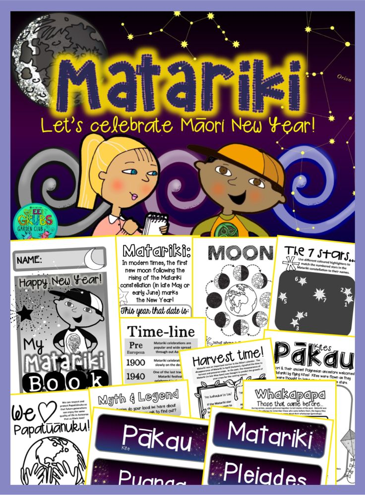 Did you know that the Matariki constellation is called 'Subaru' in Japan? Or that although we can normally only see 6-7 stars with the naked eye, there are actually over 400 included in the Matariki cluster? This 56 page mini booklet pack is designed to support your classroom discussions and learning about Matariki. *Also included in this resource is a large wall display banner and a set of word wall cards.