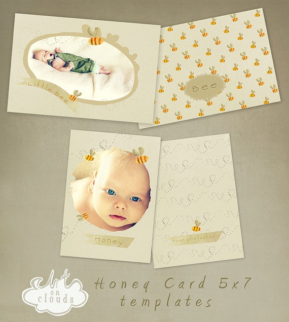 Honey cards  collection C004 by ArtonClouds on Etsy, $12.00