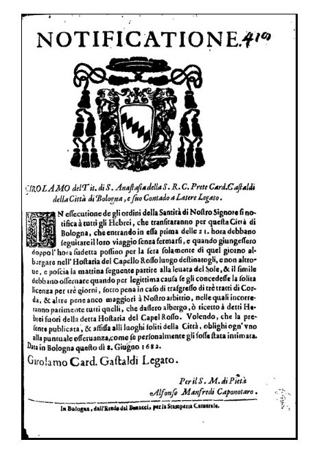 Notificatione, 1682.