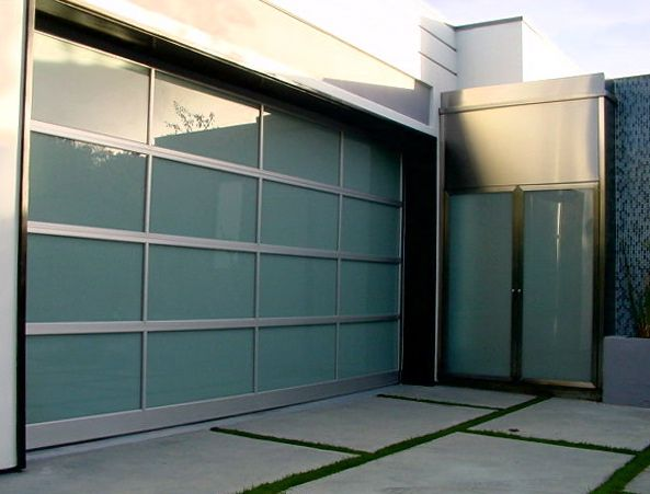 love everything about this... the garage door, the french doors, and the block driveway with grass in between