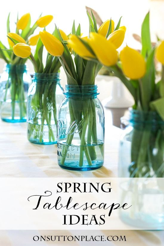 Spring Easter Tablescape Ideas | Inspiration for setting the perfect spring table for family and friends.