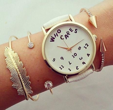 who cares watch., Stylish watches with bracelets http://www.justtrendygirls.com/stylish-watches-with-bracelets/