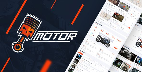 Motor – Vehicles, Parts & Accessories Store - PSD Template . Motor – Motorcycle Parts Store PSD Template included 20 editable PSD-files, well-organized, fully customizable and easy to