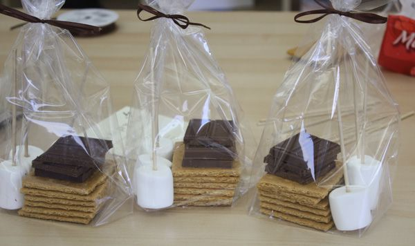Packaged-S'mores, making these cuties! | At home reception ...