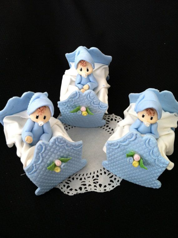 Boy Baby Shower Decor, Baby Shower Twins Baby Cake Topper ,Boys Baby Shower,  Blue Baby Shower, Baby In Crib Favor, Baby Boy Shower Favors