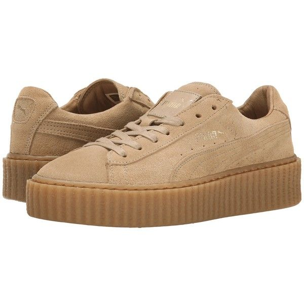 PUMA Rihanna x Puma Suede Creepers Women's Shoes ($120) ❤ liked on Polyvore featuring shoes, sneakers, laced up shoes, puma shoes, platform lace up shoes, breathable shoes and punk rock shoes