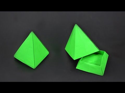 Origami: Pyramid Box - Instructions in English (BR) - YouTube