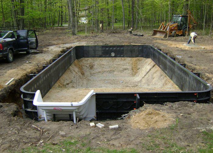Diy Inground Pool Images Pools Amp Backyards Inground