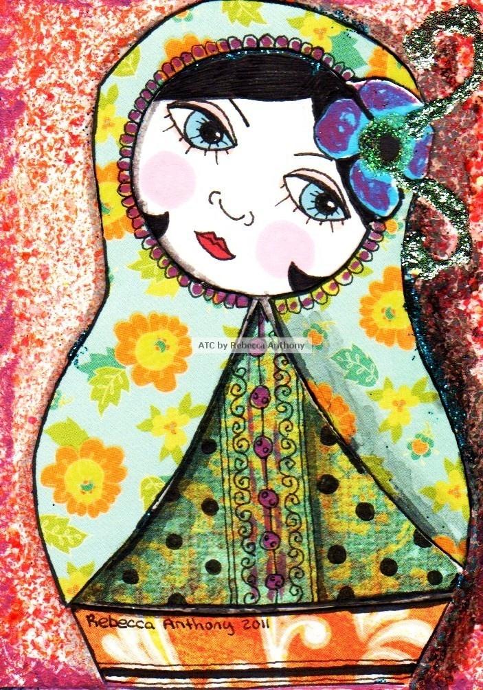 Penny Lane Ink: ATC Russian Dolls