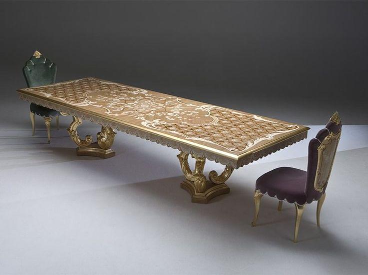Tavolo da salotto rettangolare in legno DUCALE Collezione Palazzo by Rozzoni Mobili d'Arte
