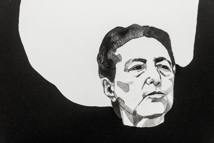 "Maria Pohl - ""Simone de Beauvoir"" Signed and numbered art print, limited edition of 20. Available at www.masterverk.com"