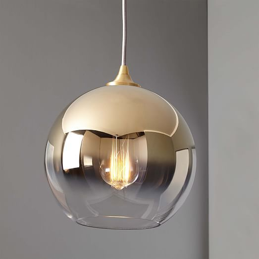 Ombre Mirrored Pendant (3) (kitchen pendants)