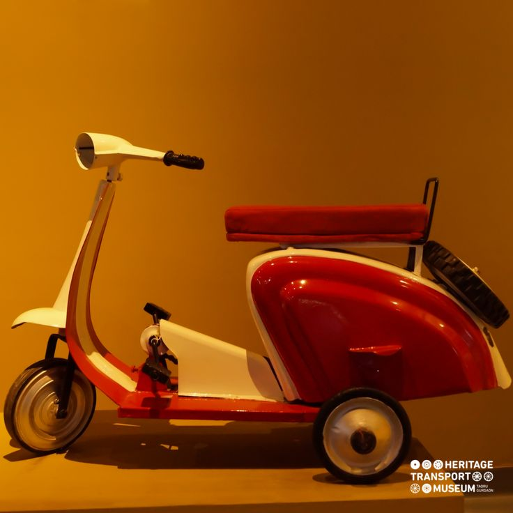 This is a unique pedal scooter displayed at the toy collection section of the museum. These mini forms of vehicles were produced for children.  #wisdomwednesday #pedalscooter #toycollection #toycollector #heritagetransportmuseum #vintagecollection #incredibleindia