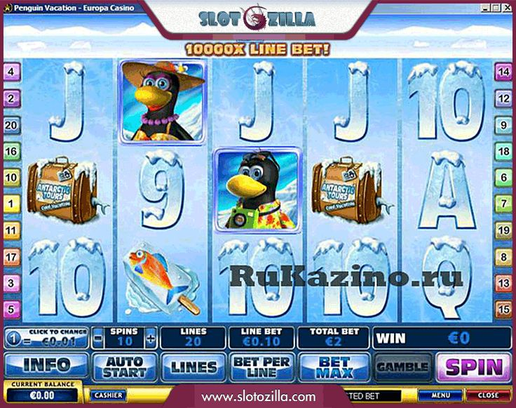 Penguin Vacation free #slot_machine #game presented by www.Slotozilla.com - World's biggest source of #free_slots where you can play slots for fun, free of charge, instantly online (no download or registration required) . So, spin some reels at Slotozilla! Penguin Vacation slots direct link: http://www.slotozilla.com/free-slots/penguin-vacation