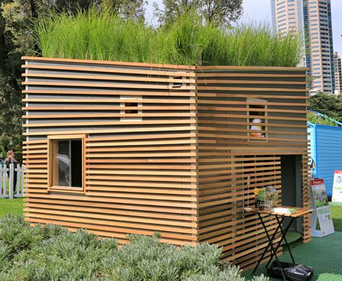 A cubby house with a roof garden! Move aside kids, I think this will be my home office!