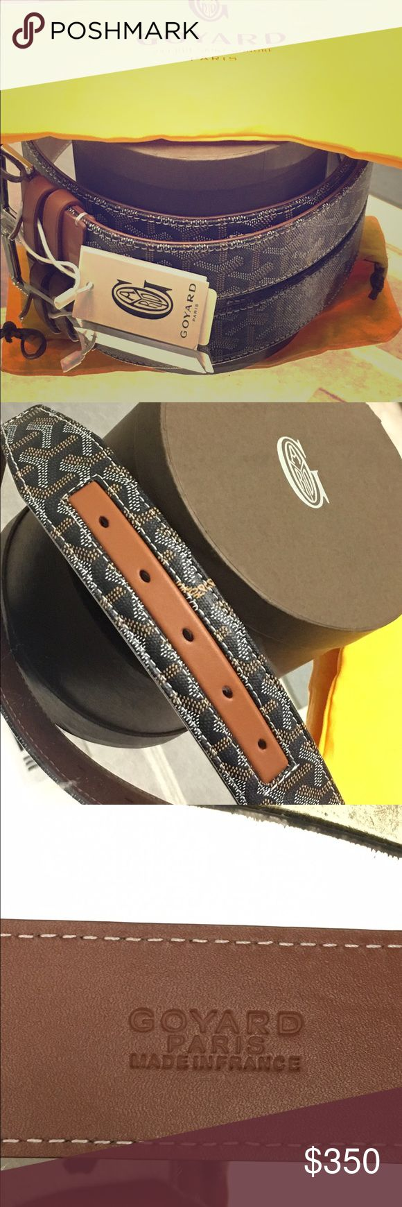 Goyard Belt 90 cm (size 36) Brand new Goyard Belt. Comes with original tags, box, and dust bag. The belt is too small for me. Goyard Accessories Belts