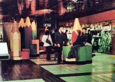 The giant pencils of Eldon Square early 1980s