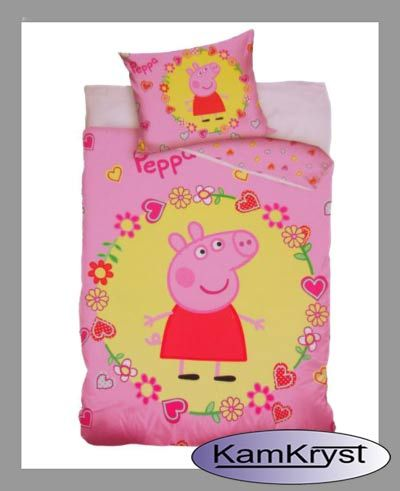 Peppa Pig Bedding with size 100x135 cm - shop KamKryst   Pościel ze Świnka Peppą w rozmiarze 100x135 cm w sklep Kamkryst #peppa #peppa_pig #peppa_pig_bedding