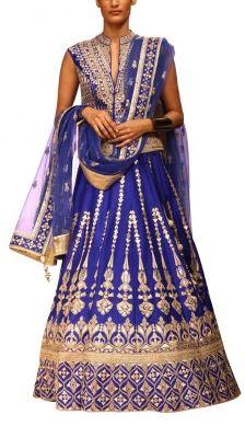 Royal Blue Lehenga Set | Strandofsilk.com - Indian Designers