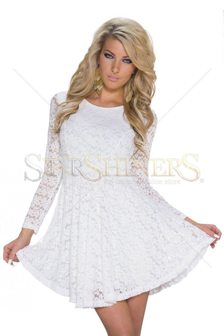 Vibrating Offer White Dress