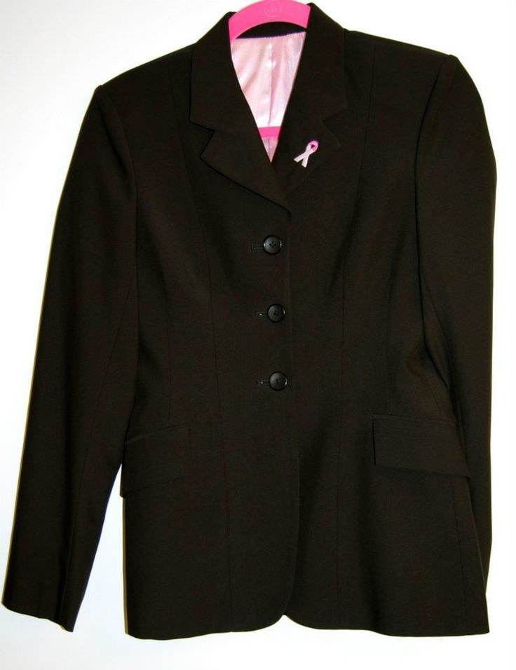 "Beautiful ""For the Cure"" show jacket with the inside lined in pink. Comfort fit and machine washable. $450"