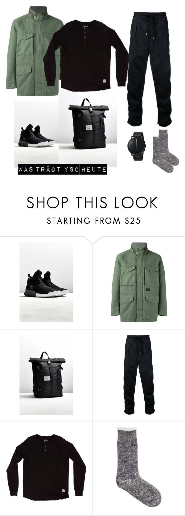 """""""Untitled #19"""" by kathywant ❤ liked on Polyvore featuring adidas, Carhartt, Poler, monkey time, Iron & Resin, Ro To To, Skagen, men's fashion and menswear"""
