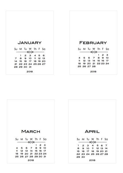 Calendar Diy Printable : Year at a glance for planners and diy