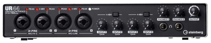Steinberg UR44 - powerhouse interface in a box built like a tank.